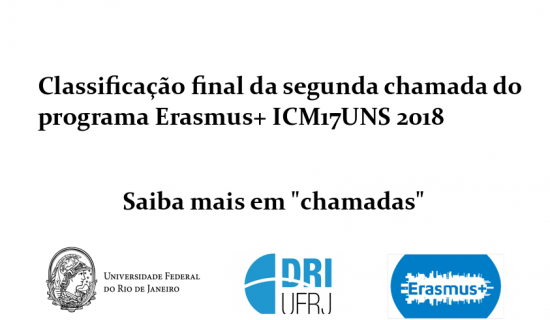 Classificação final erasmus icm17 uns 2018